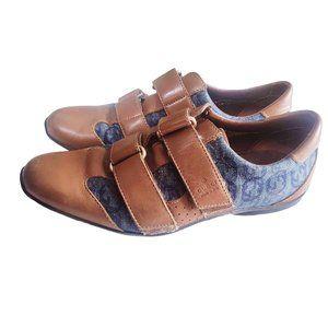 Gucci Shoes Leather Velcro Blue Denim Logo